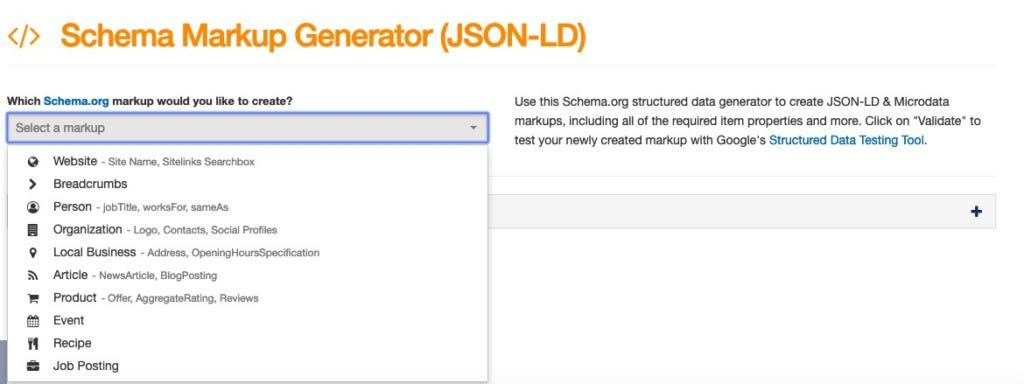 Free Schema Generator Tool for Structured data