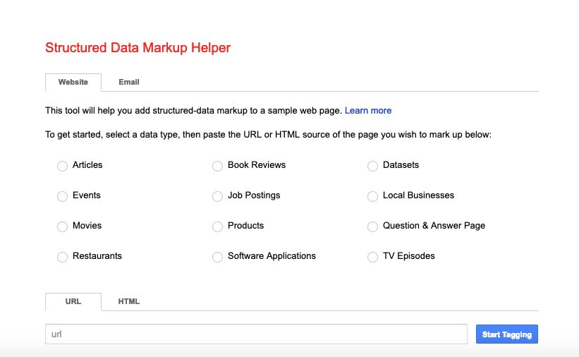 Google Structured Data Markup Helper by Google